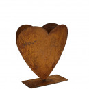 Metal planters heart height 40cm, on metal base pl